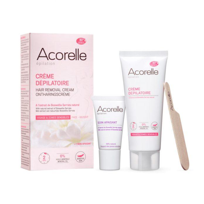 Acorelle Epilation Crème Dépilatoire Visage et Zones Sensibles