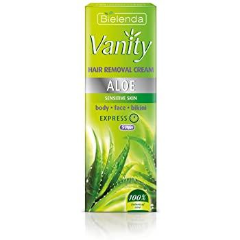 Test et avis Vanity, Aloès, Crème Epilatoire Pour Peaux Sensibles, Corps, Visage, Zone Bikini