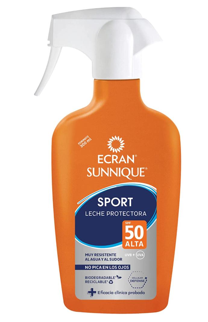 Ecran Sunnique Sport Spray Lait Solaire Protection SPF 50 Très Résistant à l'eau et à la transpiration 300 ml test avis