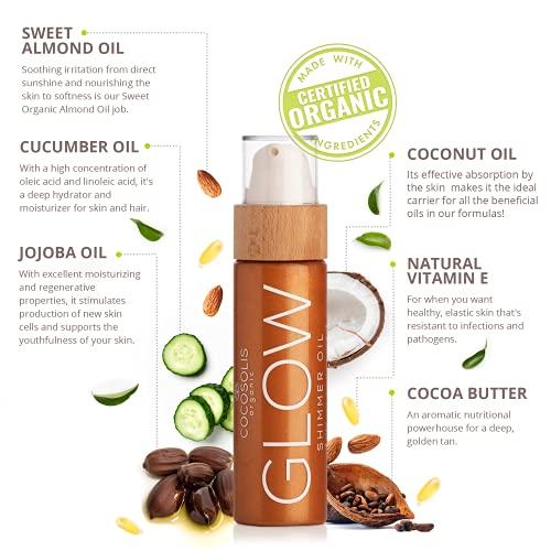 test et avis COCOSOLIS Huile éclat chatoyant - Bio oil hydratante - Huile bronzante visage et corps